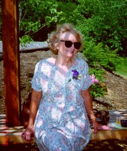 Mom at our wedding 14 years ago.