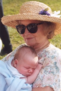 Sue Mulkey with grandson Jack in 1999