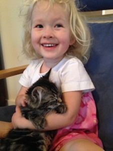 Gracelyn & her new kitten Pearl