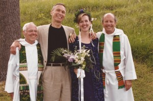 Ken & Howard, officiants at our 1999 wedding