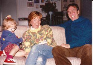 Lily, Sharon & me circa 1995