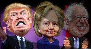 Trump-Hillary-Bernie