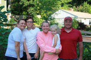 Newton family during 2015 visit to Asheville